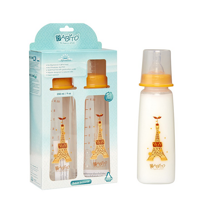 Babito BPA-Free Baby Feeding Bottle, Afrodita 250ml / 9 Oz 3-6 Months