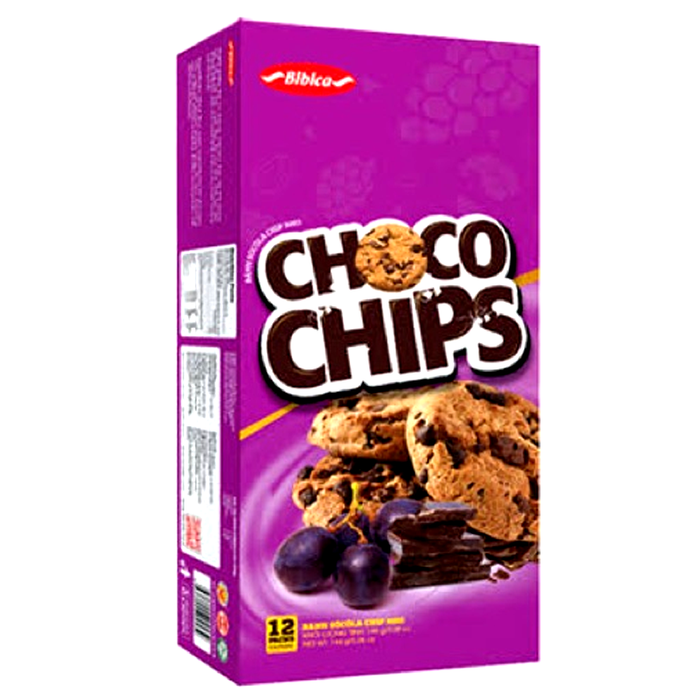 Bibica chocolate chips Cookies With Raisin Size 144g Pack of 12pcs