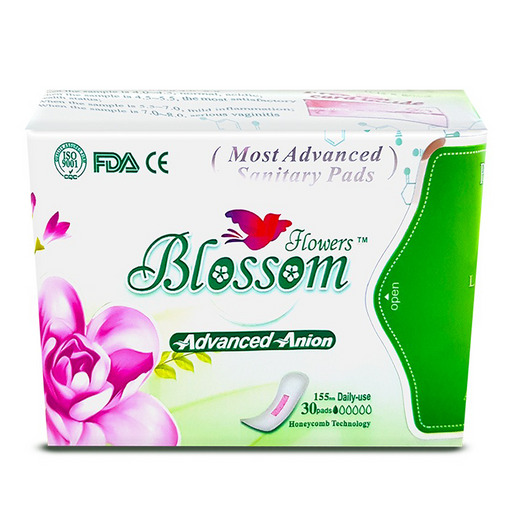 Blossom Flowers Pads (Daily use) Size 155 mm pack of 30 pieces