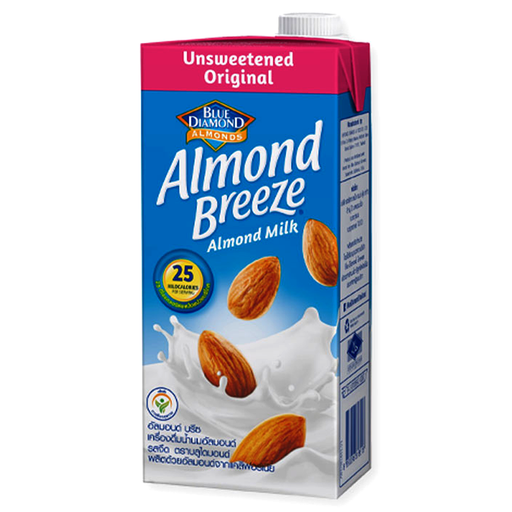 Blue Diamond Almonds Breeze Unsweetened Original Flavour Almond Milk Size 946ml