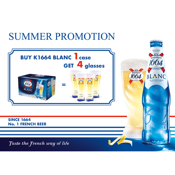 Buy K1664 Blanc 1 case + GET 4 glasses for FREE