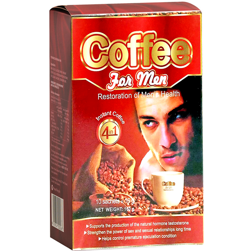 Coffee For men Restoration of Men's Health 16g Boxes of 10sachets