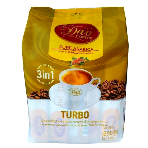 Dao Coffee Pure Arabica From The Bolaven Plateau Formula Turbo 600g Pack of 30bags