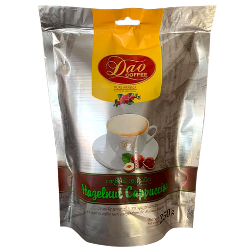 Dao Coffee Pure Arabica From The Bolaven Plateau Hazenut Cappuccino Size  250g Pack of 10 Sticks