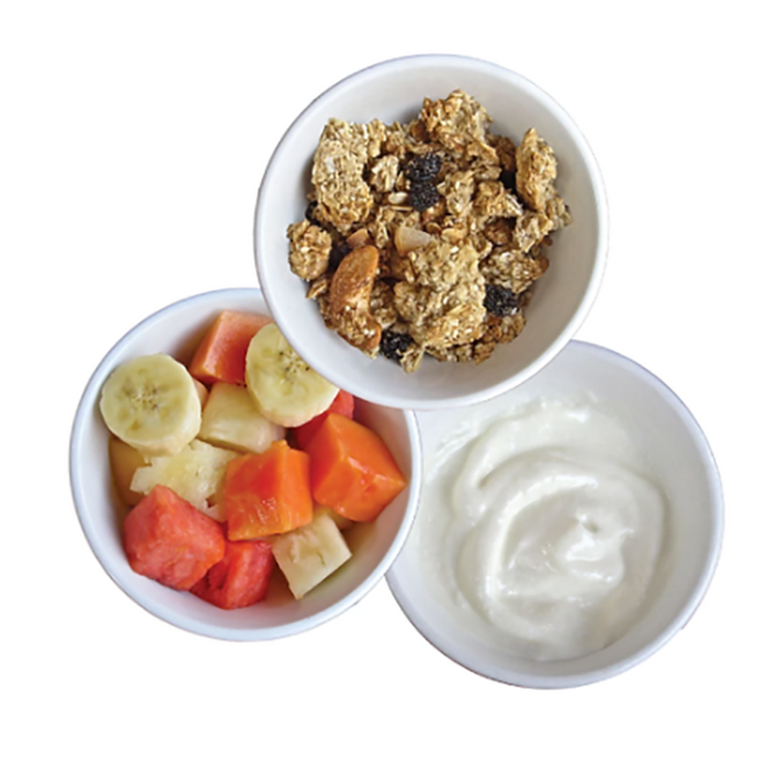 FRUIT, GRANOLA, YOGURT