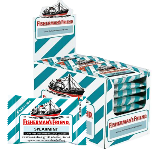Fisherman's Friend Sugar free Spearmint Flavour Lozenges  25g pack of 24 pieces