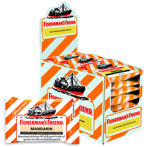 Fisherman's Friend Sugar free Spicy Mandarin Flavour Lozenges  25g pack of 24 pieces