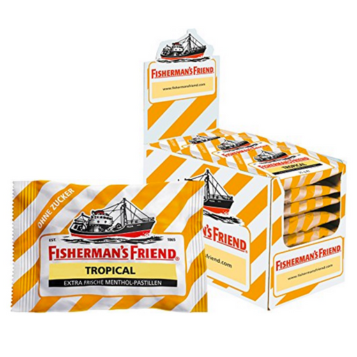 Fisherman's Friend Sugar free Tropical Extra Frische Menthol - Pastillen 25g pack of 24 pieces