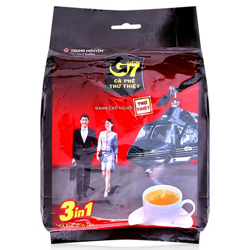 Trung Nguyen G7 Instant Coffee Coffee Mix 3in1 Size 16g Pack of 20Sticks