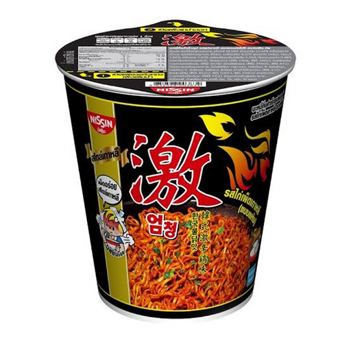 Instant Noodles Dry Type Korean Hot Chilli Chicken Flavour NISSIN (Cup Brand) 71g per pack of 6 cups
