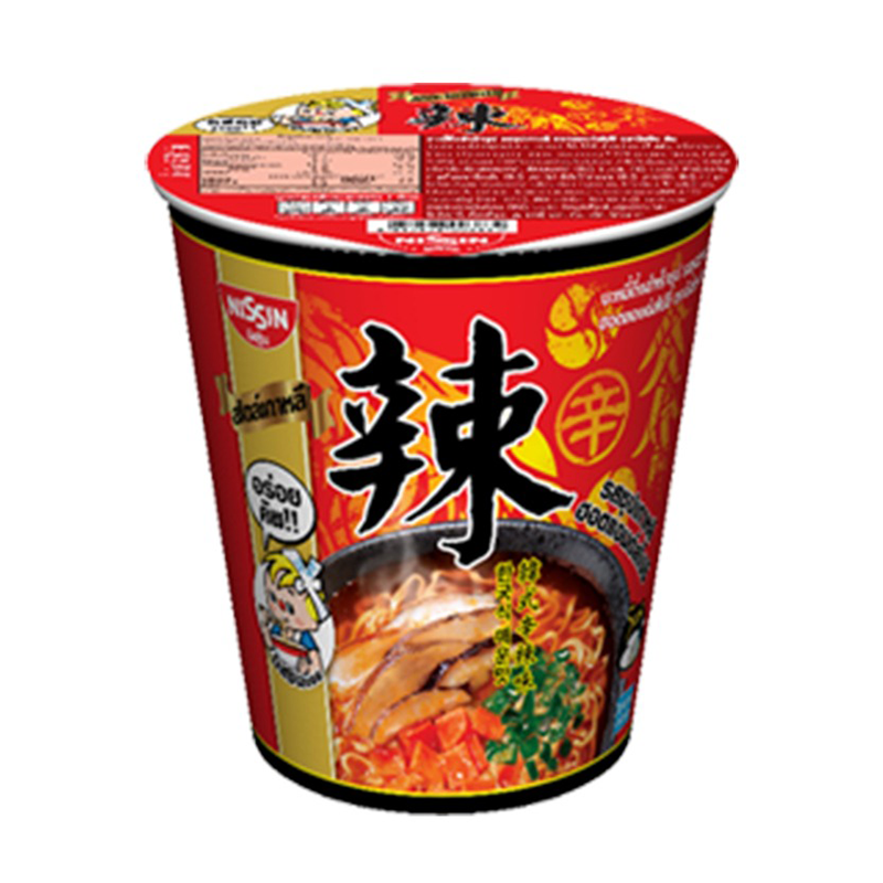 Instant Noodles Korean Hot and Spicy Soup Flavour NISSIN (Cup Brand) 68g per pack of 6 cups