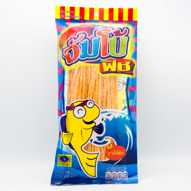 Jumbo fish Brand Fish Snack Barbecue Flavoured Size 80g