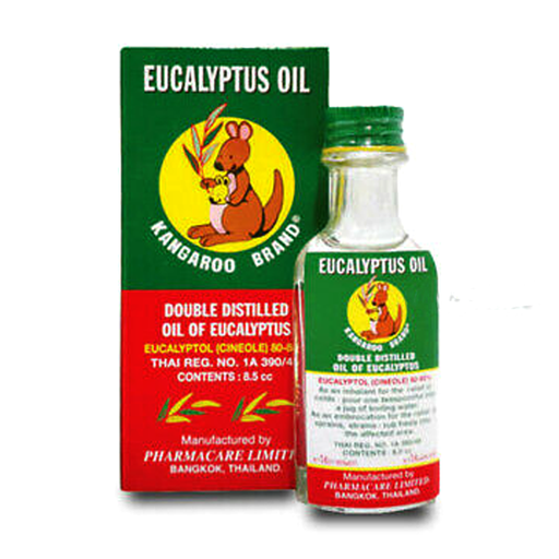 Kangaroo Brand Double Distilled Oil of Eucalyptus Oil Eucalyptol 8.5cc per piece