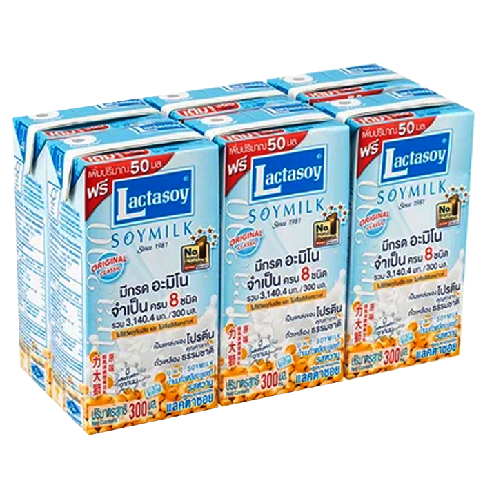 Lactasoy UHT soy milk Original Classic 300ml Pack of 6boxes