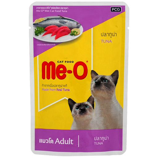 Me-O Wet Cat Food Tuna Made From Real Tuna For Adult 80g