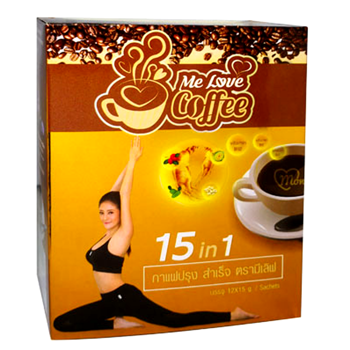 Me Love Coffee Instant Coffee 15 in 1 Size 15g Boxes Of 12Sticks