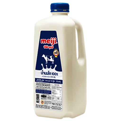 Meiji Pasteurized 100% Fresh Cow's Milk Size 2 L per Pcs