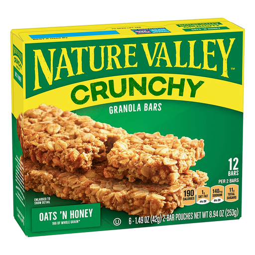 NATURE VALLEY CRUNCHY OATS & HONEY 253G