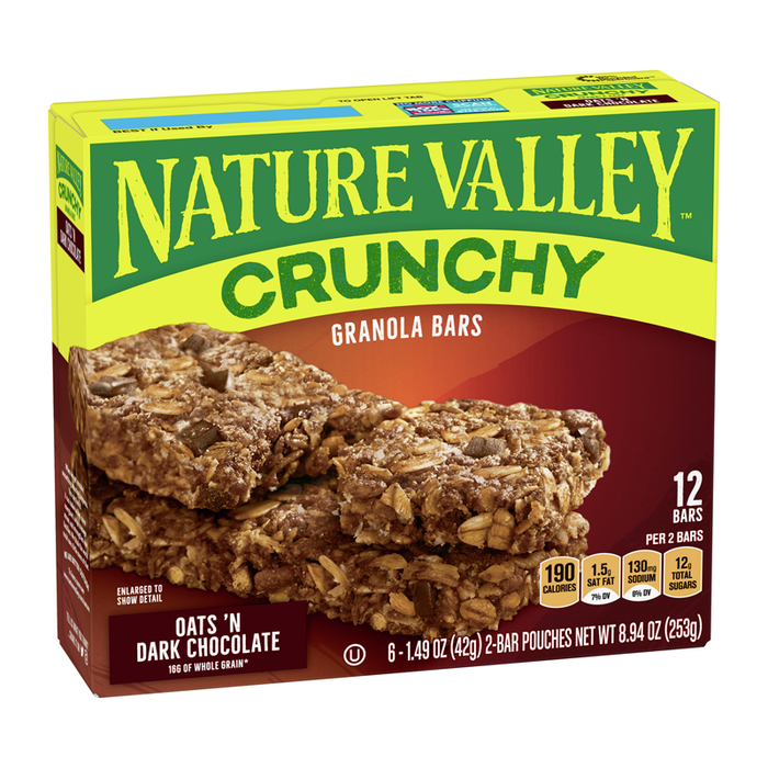 NATURE VALLEY OATS & DARK CHOCOLATE 252G