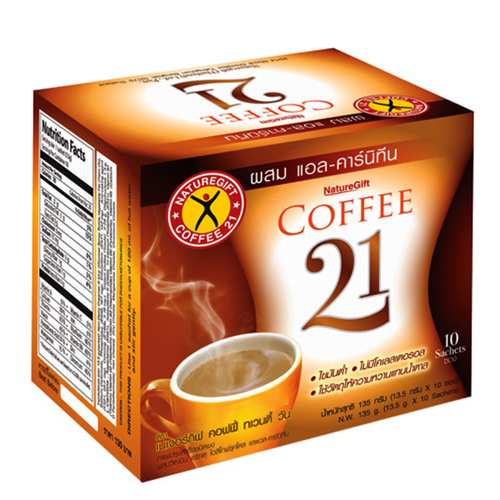 Naturegift Instant Coffee 21 Weight Loss Slimming Size 13.5g Box of 10 sachets