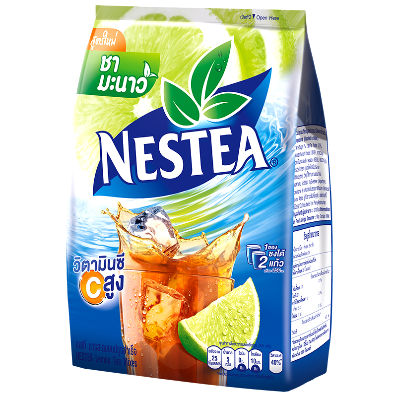 Nestea Lemon Tea Mixes Flavored Instant Flavor Size 13g Pack of 18Sticks