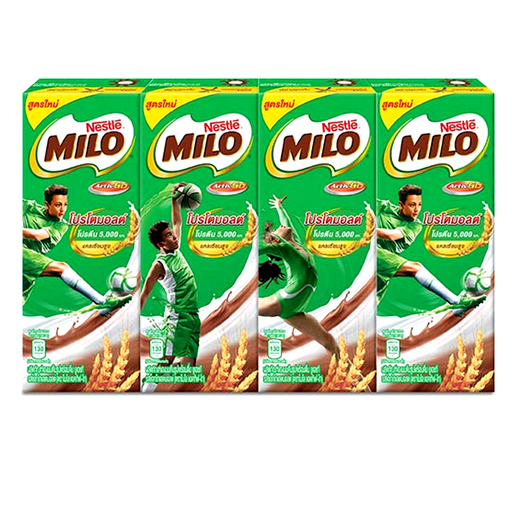 Nestle Milo Activ-Go UHT Milk Chocolate Protomalt 180ml Pack of 4boxes