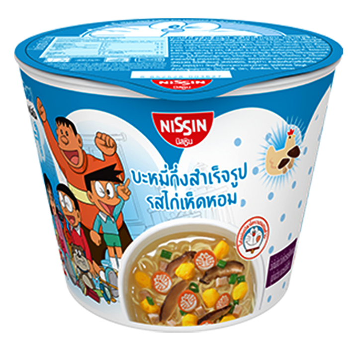 Nissin Doraemon Mini Cup Instant Noodles  Chicken With Mushroom Flavour Size 40g