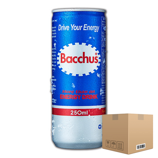 Pack of 24 Bacchus More Than an Energy Drink 250ml