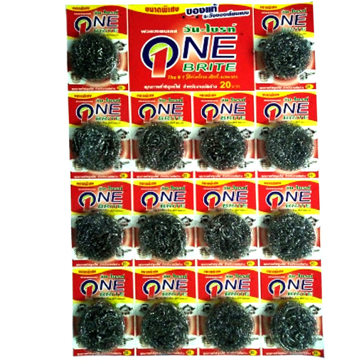 """Poly-Brite"" Stainless Steel Scourer 8g pack of 14 pieces"