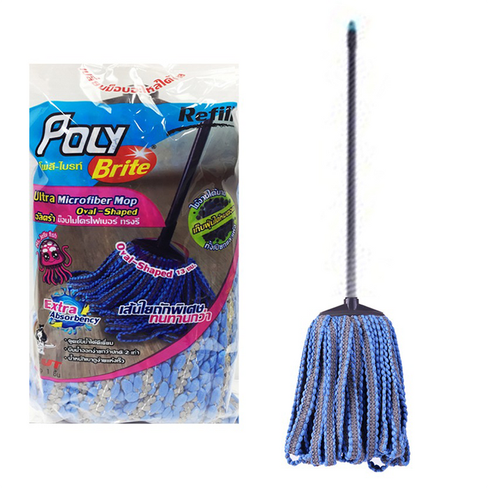 """Poly Brite"" Ultra Microfiber Mop - Oval Shape (Mr. Jellyfish) 13cm per piece"