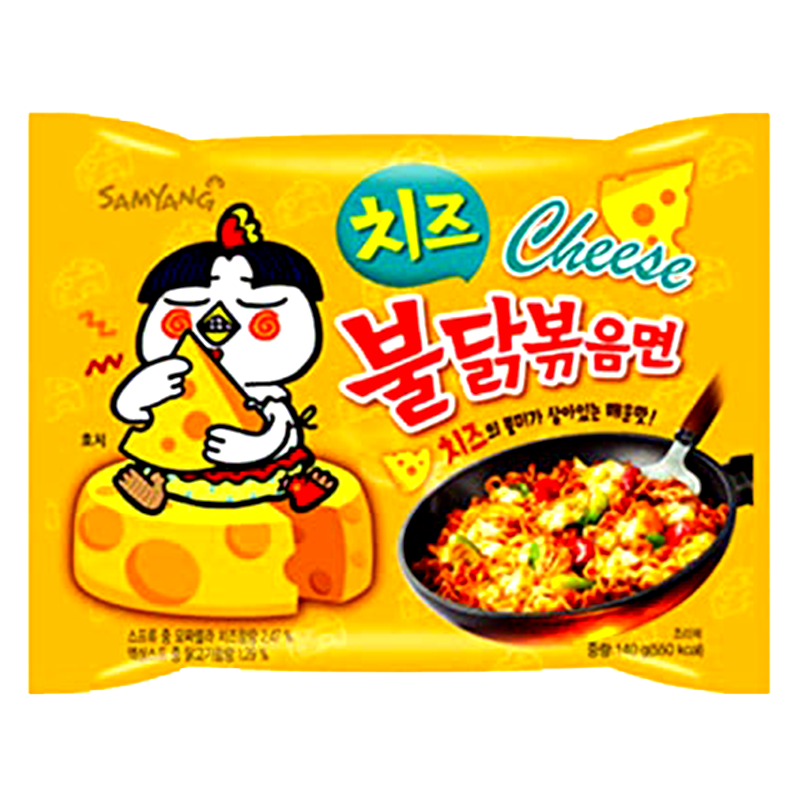 Samyang Hot Spicy Chicken Cheese Flavor Ramen Instant Noodles Size 140g