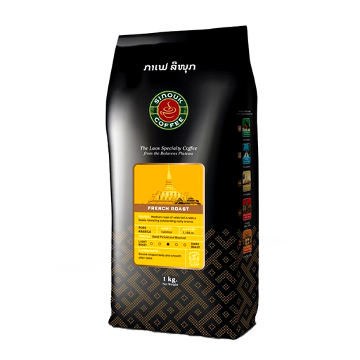 Sinouk Coffee French Roast Coffee Beans Size 200g