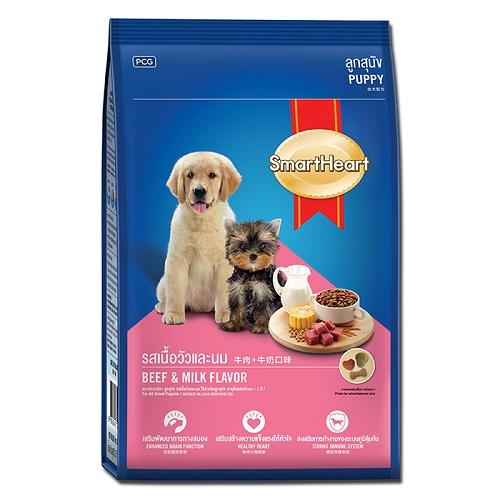 Smart Heart puppy 15 kg Beef & Milk