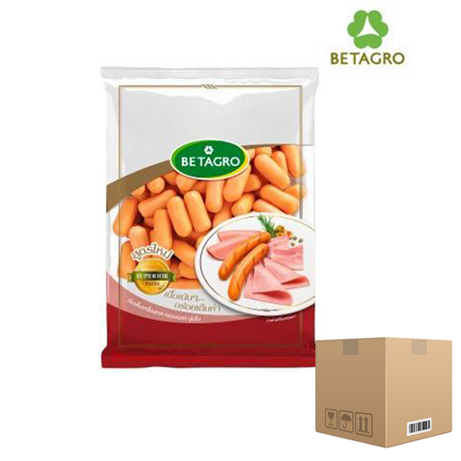 Box of 12x Smoked Baby Cheese Cocktail Sausages 1 Kg pack (frozen) Price: 726.000/1 box, Minimum order 2 Boxes