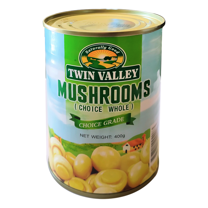 TWIN VALLEY	MUSHROOM WHOLE  400G