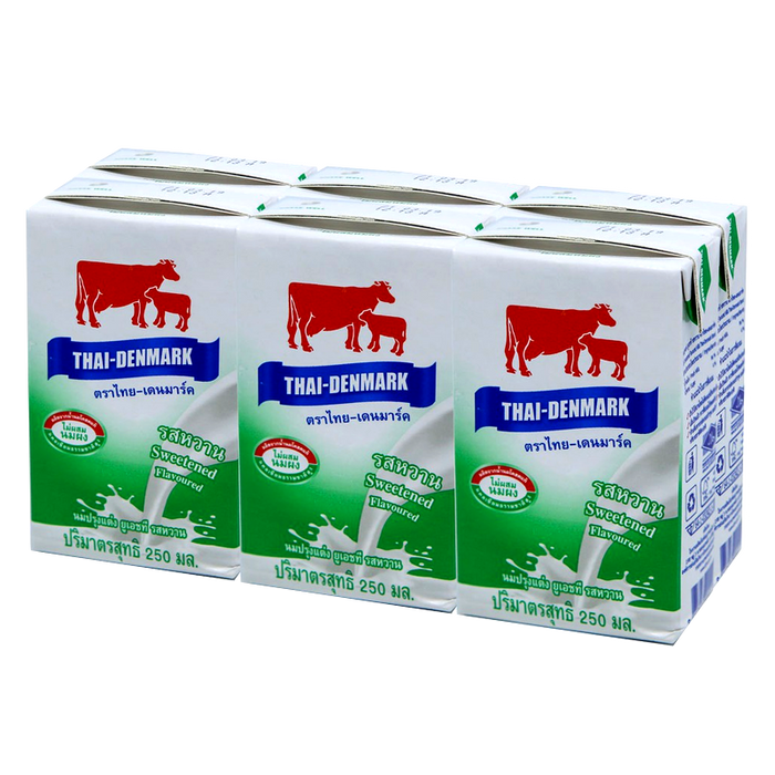 Thai-Denmark UHT Sweetened Flavoured 250ml Pack of 6 boxes