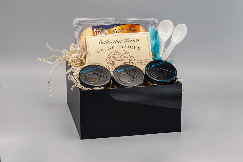American Caviar Sampler Gift Basket from Caviar Express