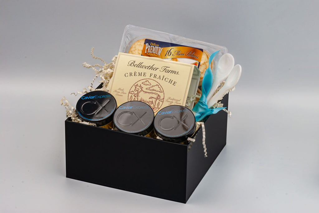 American Caviar Sampler Gift Basket, alternate angle