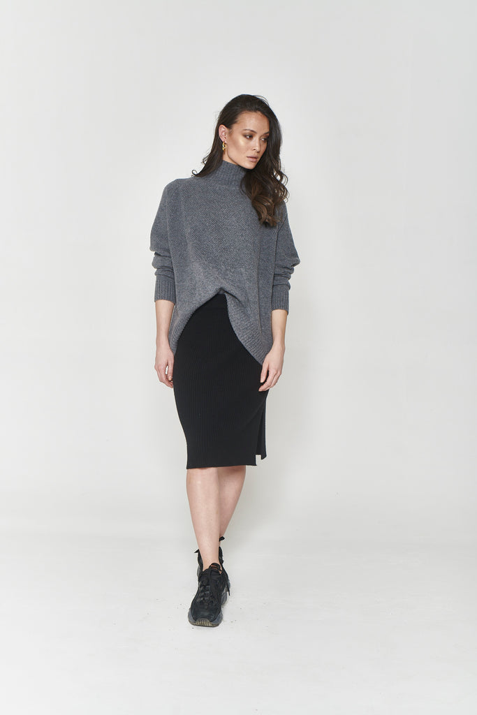 Eva Short Cashmere Skirt