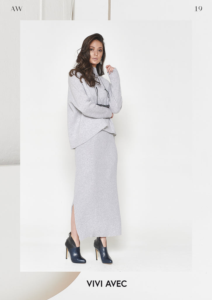 Eva Long Cashmere Skirt