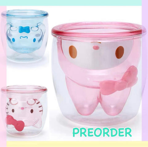 PREORDER Sanrio Double Wall Glasses / cups