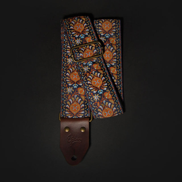 Epivo Orange Peafowl Retro Guitar Strap Gitarrengurt