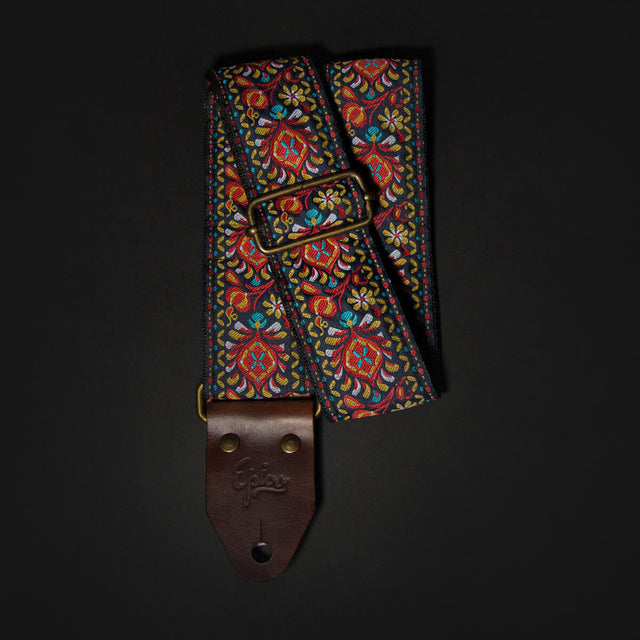Epivo Red Peafowl Retro Guitar Strap Gitarrengurt