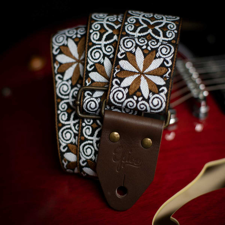 Epivo Brown Daisy Guitar Strap