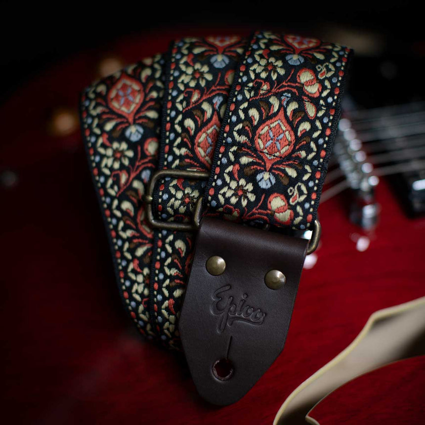 Epivo Cream Peafowl Guitar Strap
