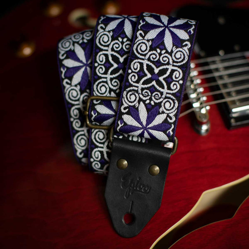 Epivo Purple Daisy Guitar Strap