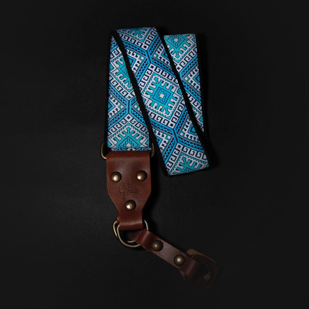 Epivo Blue Ethno Retro Camera Strap