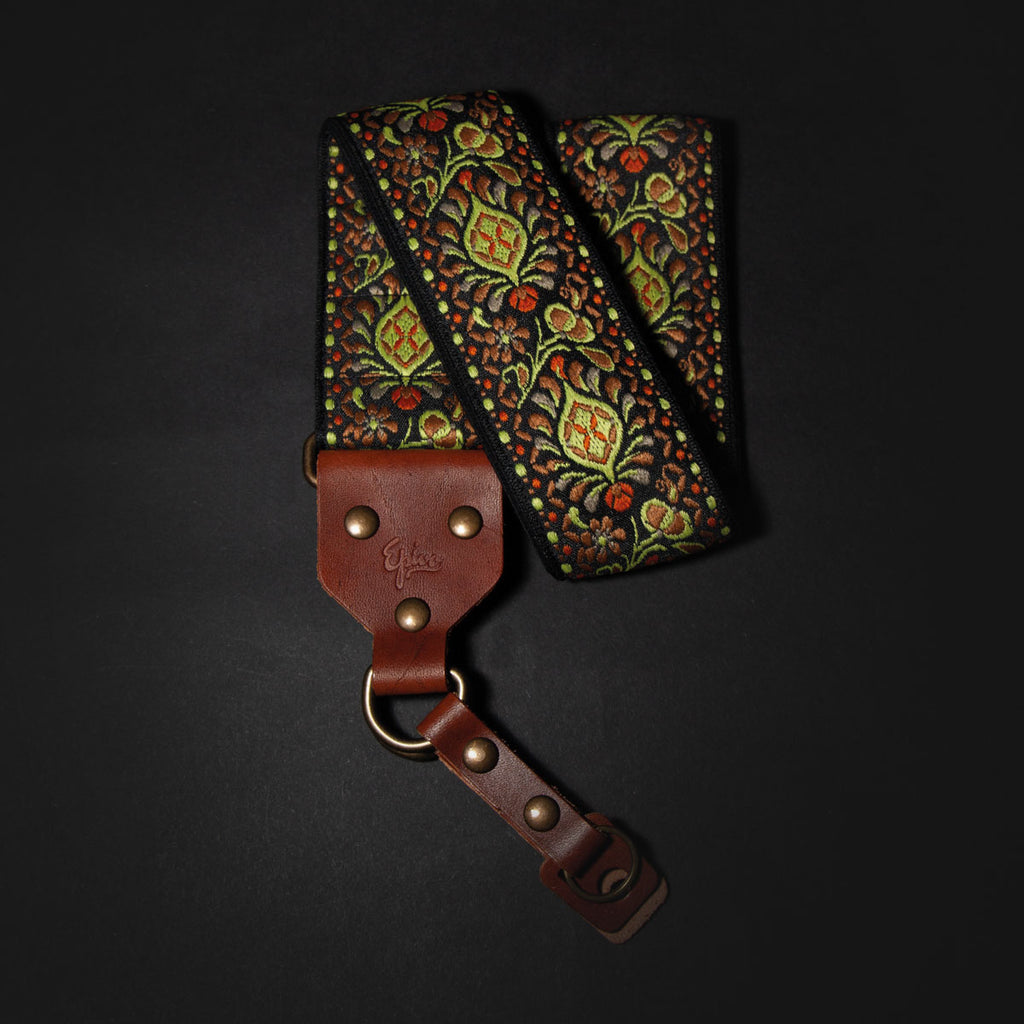 Epivo Green Peafowl Retro Camera Strap