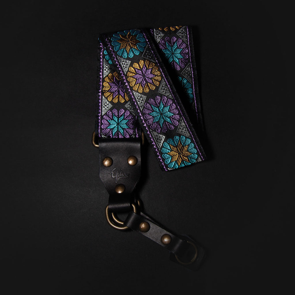 Rounded Flowers Retro Camera Strap