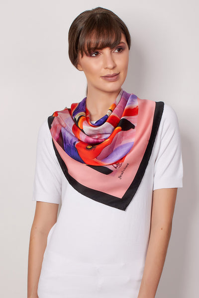 Flamingoes Too - 90cm Scarf